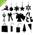 silhouette christmas decoration vector image