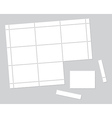 Blank stamps vector image vector image