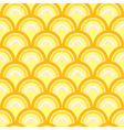Seamless geometric pattern with waves vector image