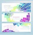 abstract mosaic colorful headers and banners vector image