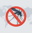 danger from a mosquito bite vector image