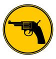 Revolver button vector image