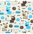 Seamless pattern with dog 6 vector image