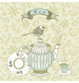 Vintage Tea time Background vector image