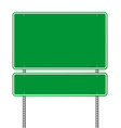 Green Blank Roadsign vector image vector image