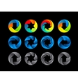 Abstract color icon set vector image