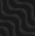 Black textured plastic diagonal waves layered vector image