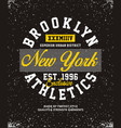 brooklyn athletics t-shirt graphic vector image