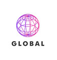 globe logo template vector image