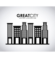 great city vector image