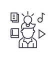intellectual property rights line icon vector image