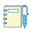 note book with pen vector image