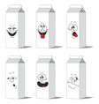 Set smiling paper packs 013 vector image