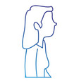 successful businesswoman profile avatar character vector image