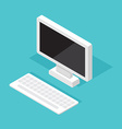 Computer Monitor Isometric decktop vector image