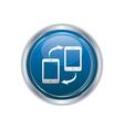 Two phones icon silver round copy vector image vector image