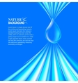 Blue Water drop background vector image vector image