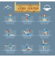 Yoga poses icons vector image