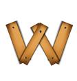 wooden type w vector image vector image