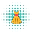 Dress icon comics style vector image vector image