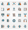 Chemistry and biotechnology icons vector image