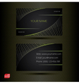Creative business cards vector image