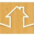 house wood origami vector image