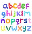 lower case bubbles alphabet vector image