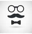 Retro eyeglasses vector image