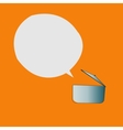 Simple pan and speech bubble design vector image