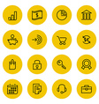 Thin line icons set for web and mobile vector image