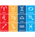 zodiac signs set of zodiac signs on colored vector image