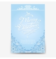 Christmas poster with snowflake divider vector image