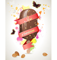 choc ice background vector image vector image