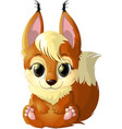 beautiful red squirrel vector image