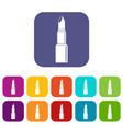 lipstick icons set flat vector image