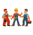 people professions builder constructor or vector image