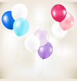 color pastel balloons vector image