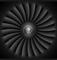 Jet engine turbine blades vector image vector image