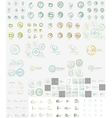 mega set of linear stamp logos vector image vector image