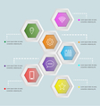 3D hexagon shape infographic template vector image