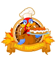 Turkey Holds Pie vector image