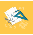 flat education or office content vector image