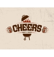 Cheers lettering logo sketch vector image