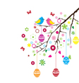 easter branch vector image vector image