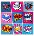 Comic Bubbles Set Expressions Pop Art vector image
