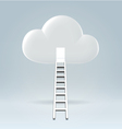 Welcome to the cloud vector image vector image