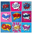 Comic Bubbles Set Expressions Pop Art vector image
