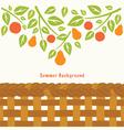 Fruit tree branch vector image