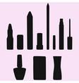 lipstick and nail polish vector image